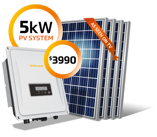 5kW system for $3990 - Special Offer