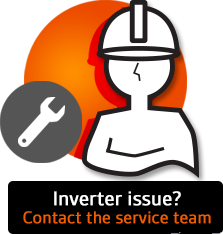 Book a technician or call the service team if you have inverter problems