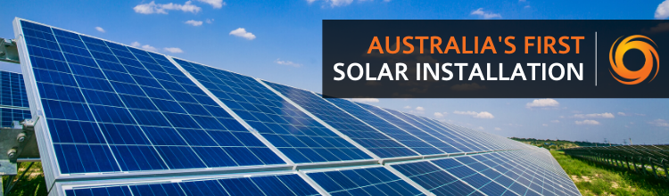 Australia's First Solar Installation