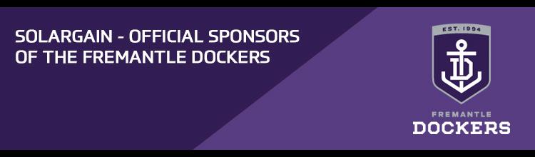 Solargain - Official sponsors of the Fremantle Dockers