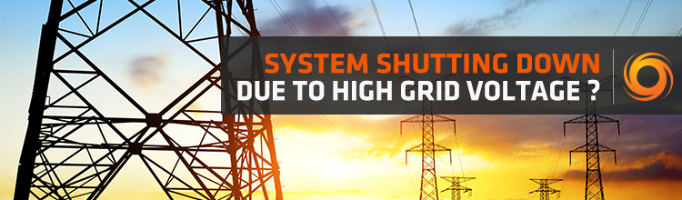 System shutting down due to high grid voltage?   Solar