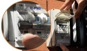 Manual shutdown procedure of solar PV power system