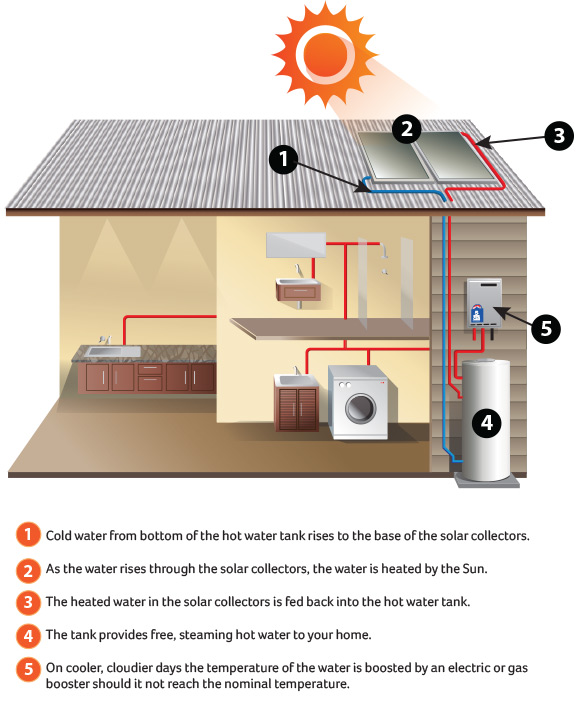How solar hot water works | Solar Hot Water | Solargain