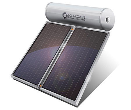Why Choose Solar Hot Water. Roof mount solar hot water system