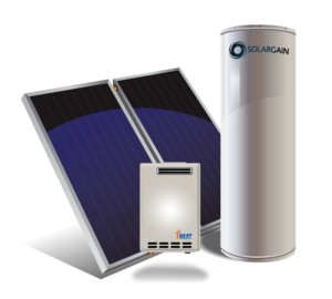 Solargain Ground Mount 315L Twin Panel with Gas Booster