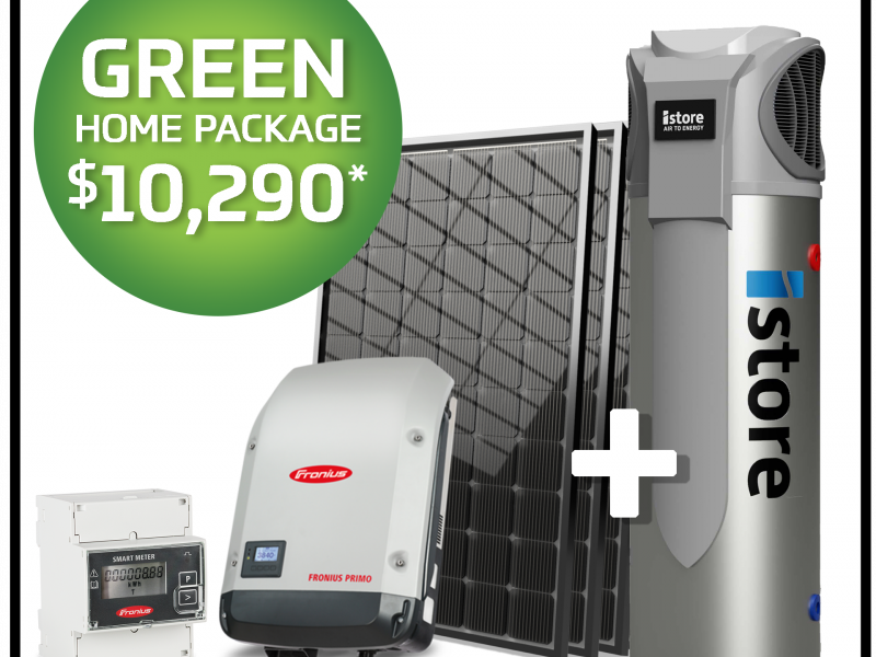 Go Green with this 6.6kW Solar Package.