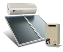 Solargain Roof Mount 300L Twin Panel with Gas Boost