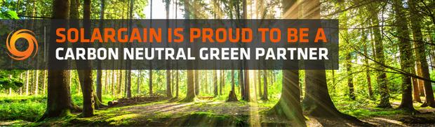Solargain a Carbon Neutral Green Partner banner